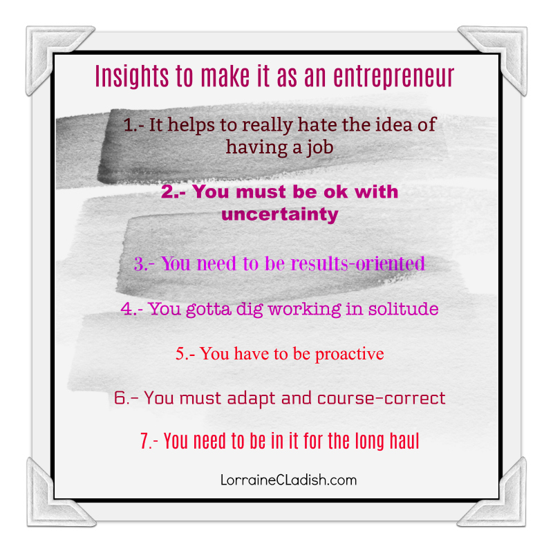 Insights to make it as an entrepreneur