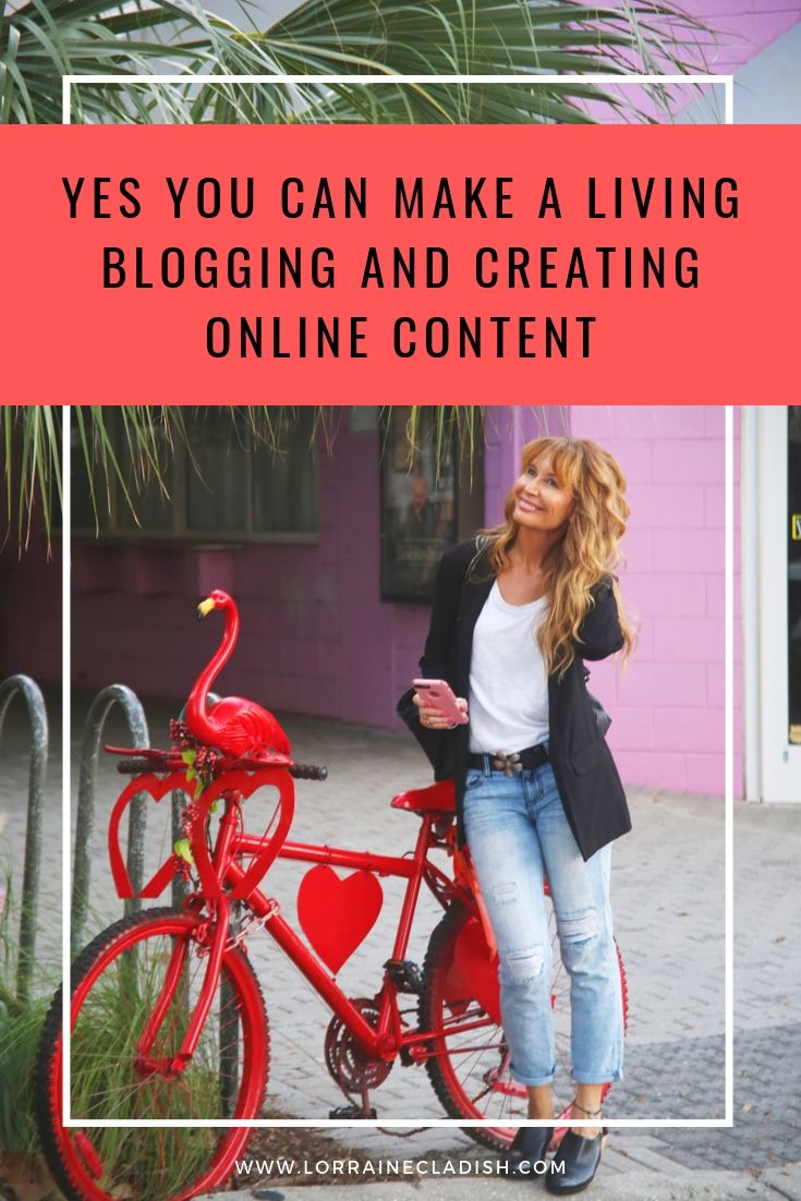 It is possible to make a living blogging and creating content online. Only a small percentage of bloggers achieve it, but it can and does happen. I do it! #blogging #bloggers