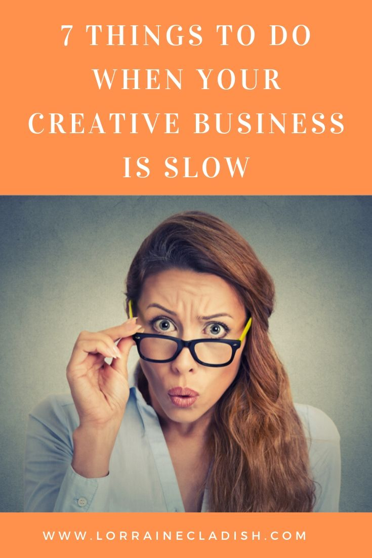 Here is what you can do when you feel like you aren´t getting the calls, e-mails or texts that will help your creative business grow.